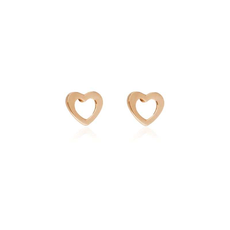 Pendientes Oro 18k corazón calado