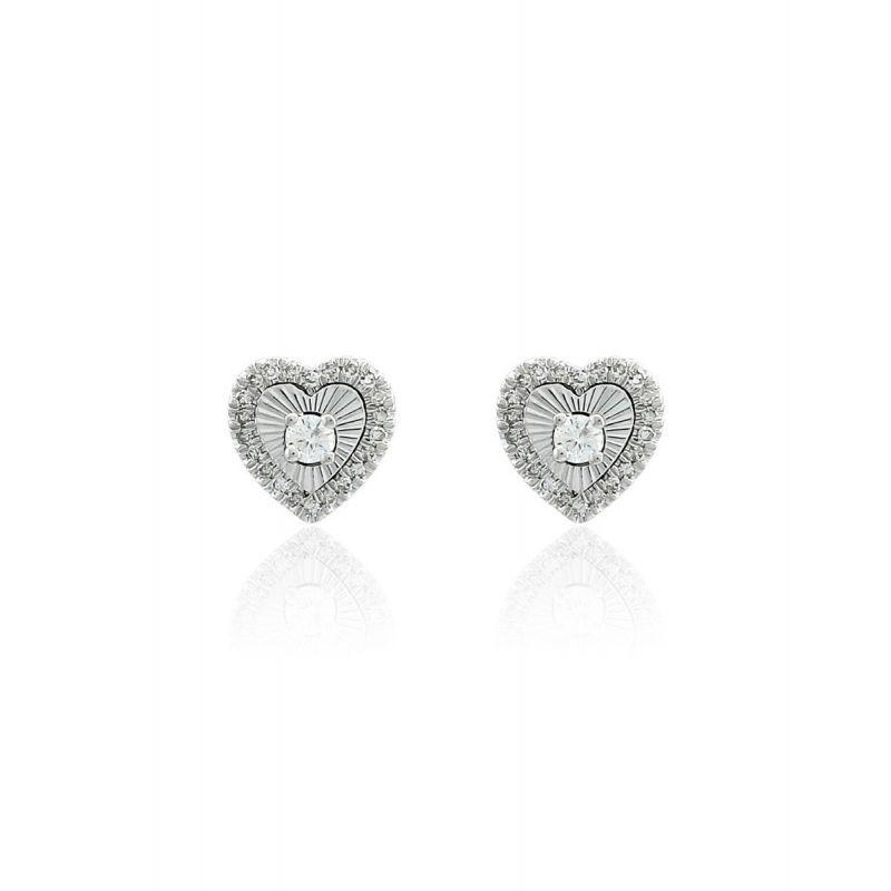 Pendientes Diamantes Oro ley 18k Corazón