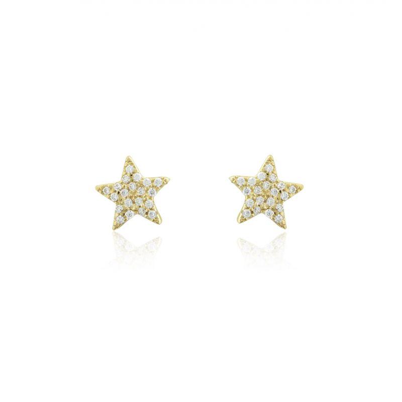 Pendientes Oro9 estrella circonitas Roselin Trendy