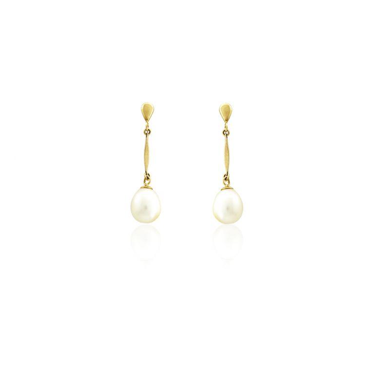 Pendientes perla Oro9 Roselin