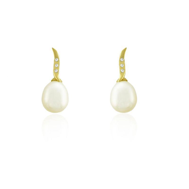 Pendientes Oro 9 perla Roselin