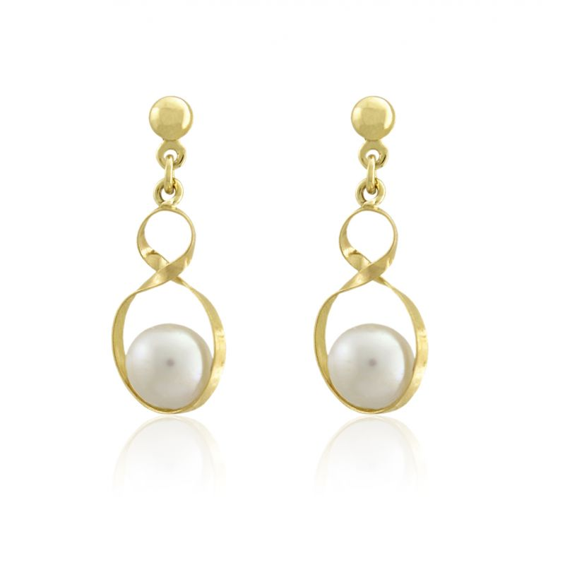 Pendientes Oro9  perlas Roselin