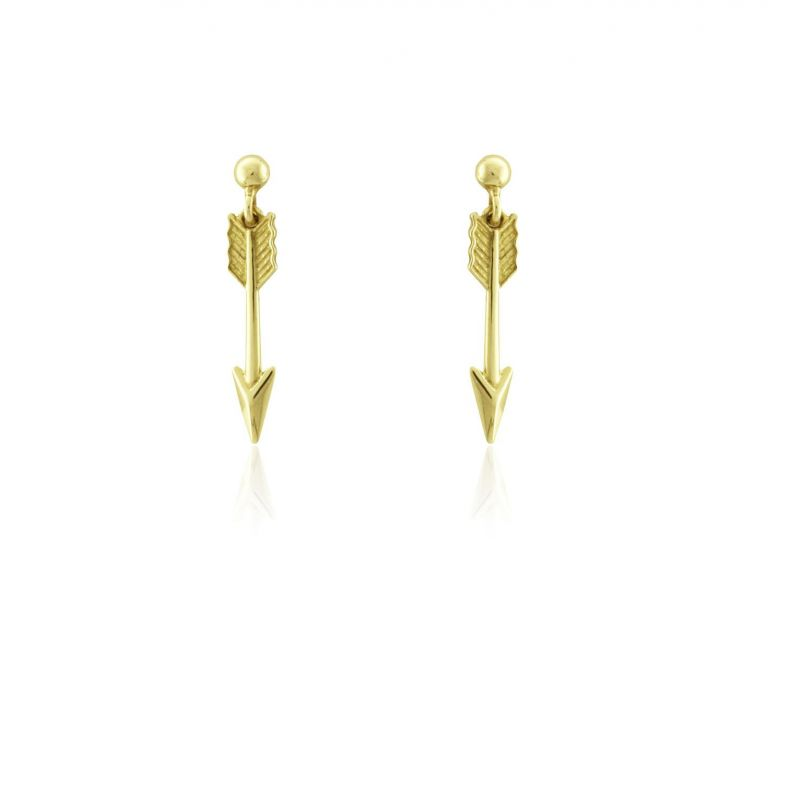 Pendientes Oro9 flecha Roselin Trendy