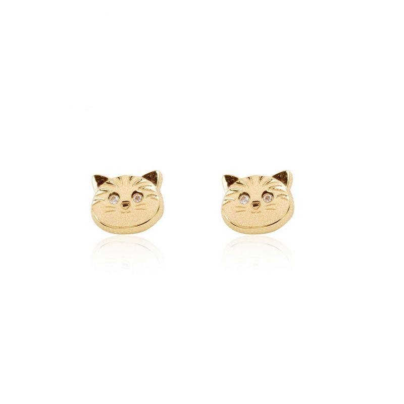 Pendientes Oro 9k gato