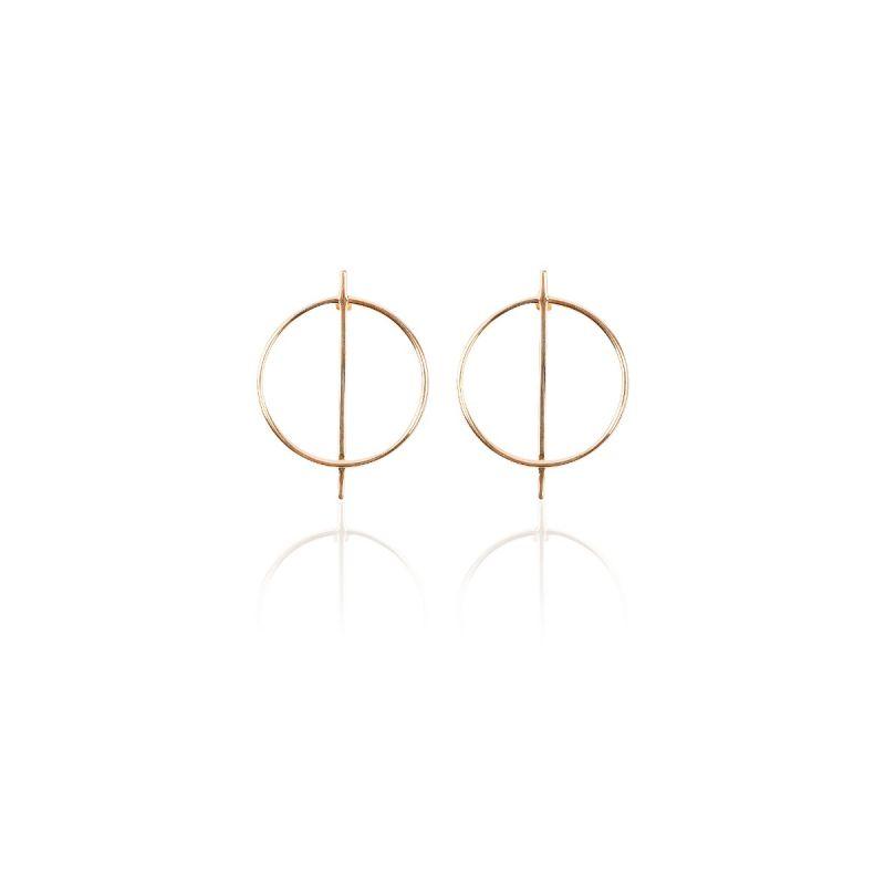 Pendientes Geométricos Oro 9k