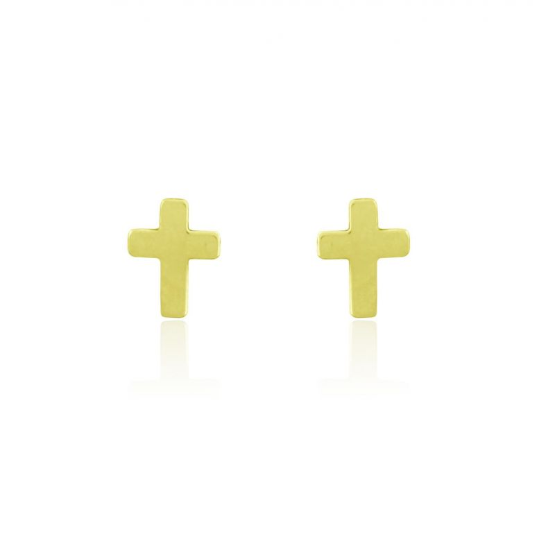 Pendientes plata cruz Roselin Trendy