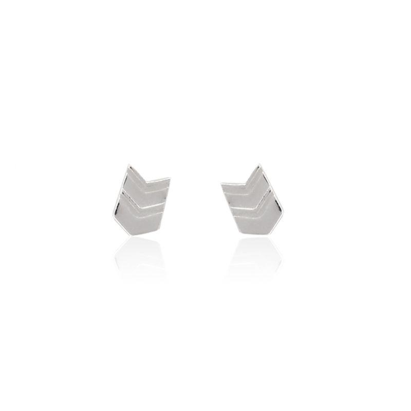 Pendientes plata flecha Roselin Trendy
