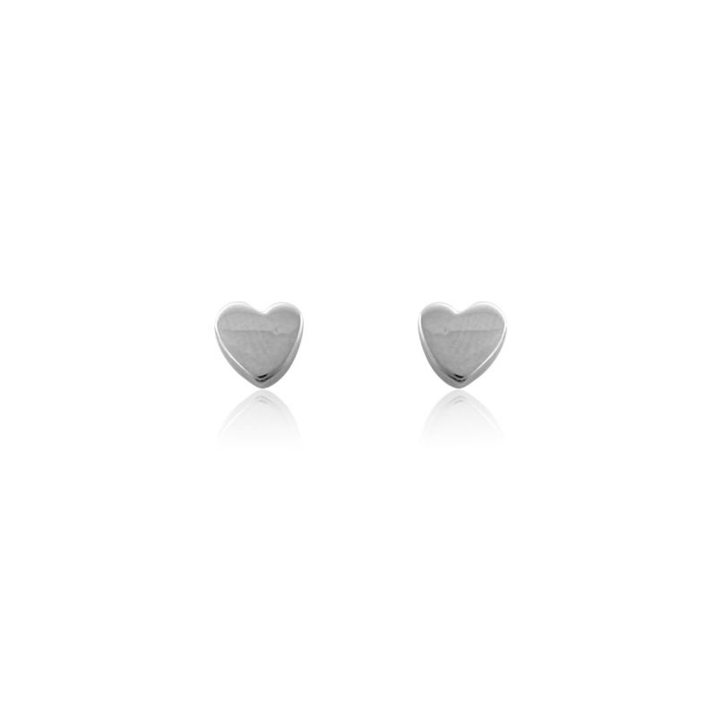 Pendientes Plata Corazón liso