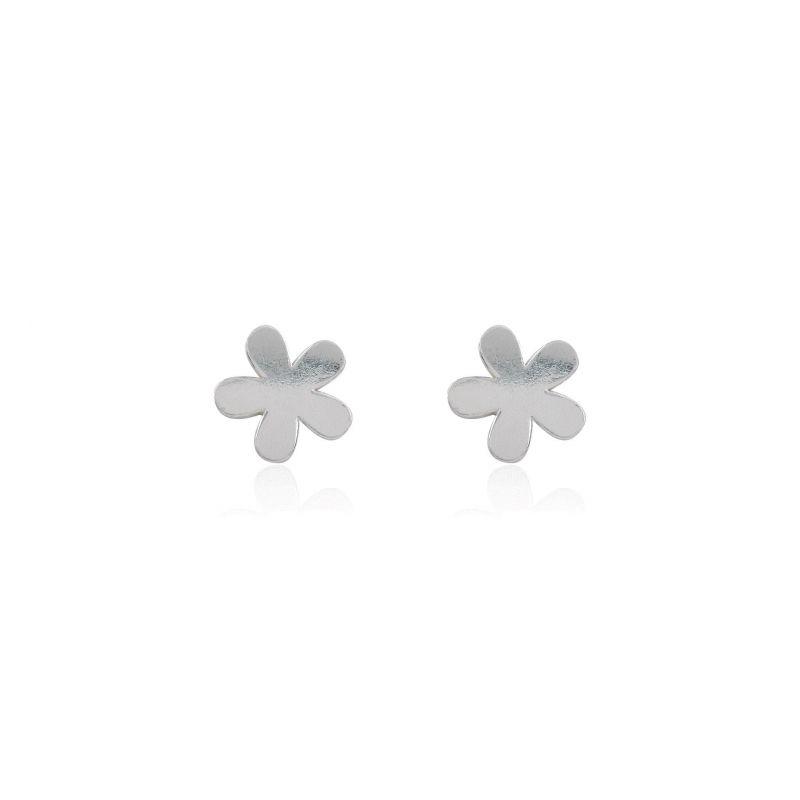 Pendientes Plata flor