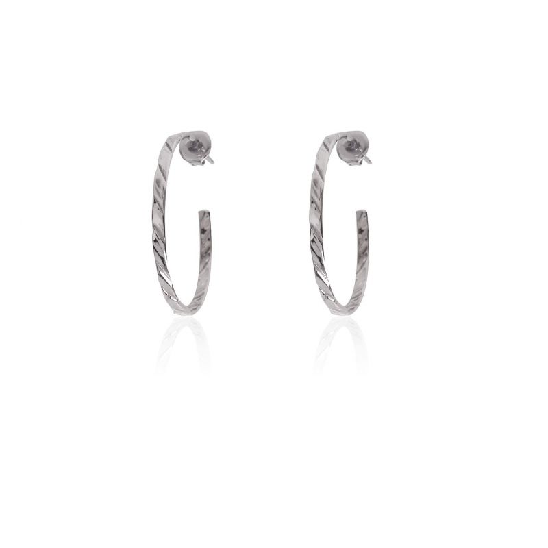 Pendientes aros plata 35 mm Roselin Trendy