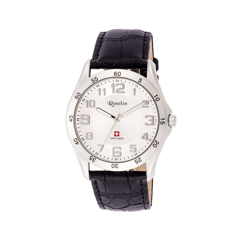 Reloj hombre piel Swiss Made Roselin Watches