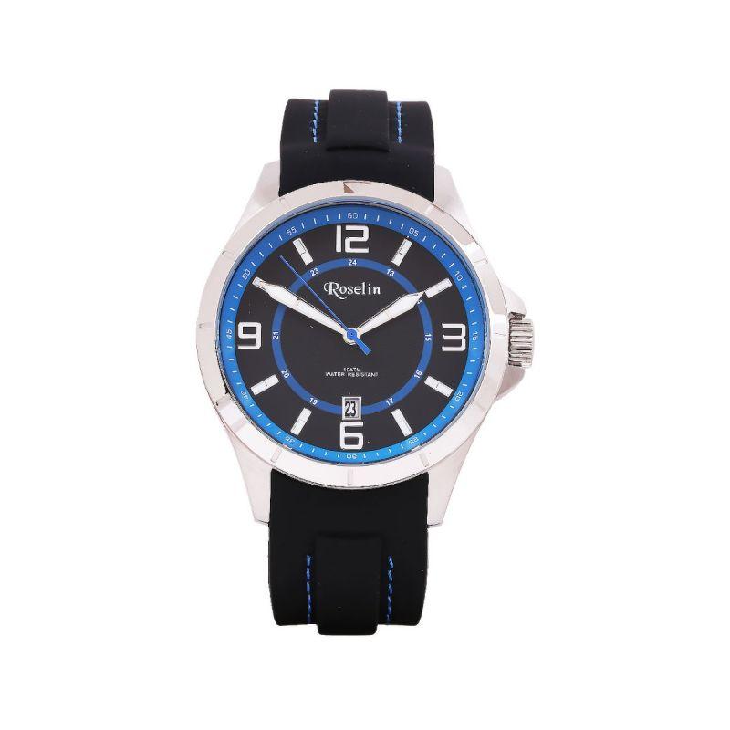 Reloj Caucho Negro y azul Roselin Watches