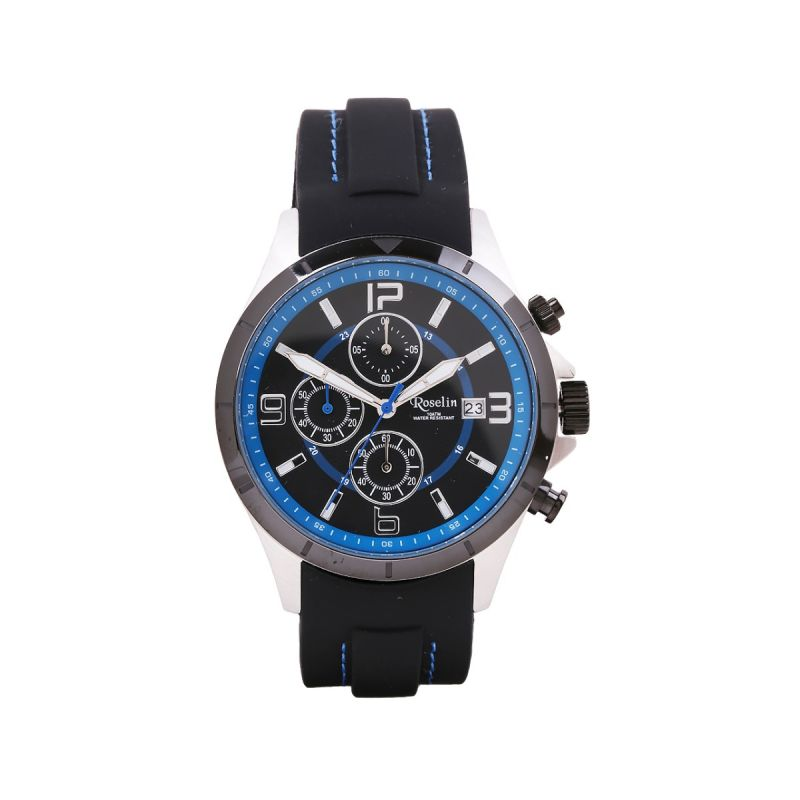 Reloj Multifunción Azul y negro Roselin Watches