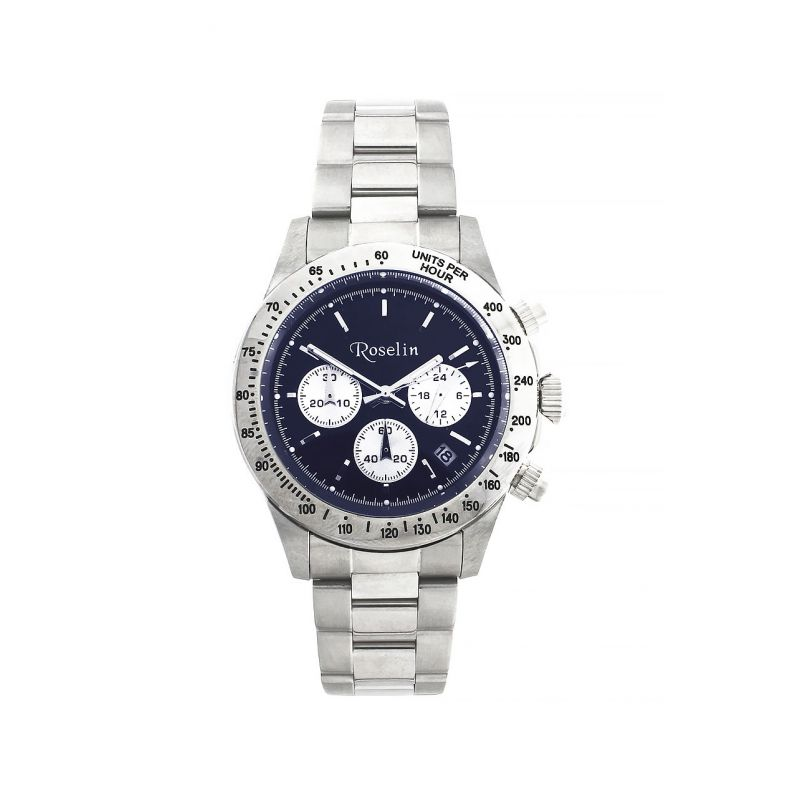 Reloj hombre cronógrafo acero Roselin Watches