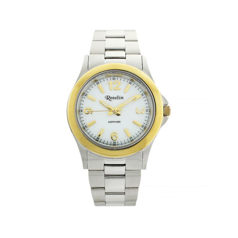 Reloj hombre acero y oro Roselin Watches