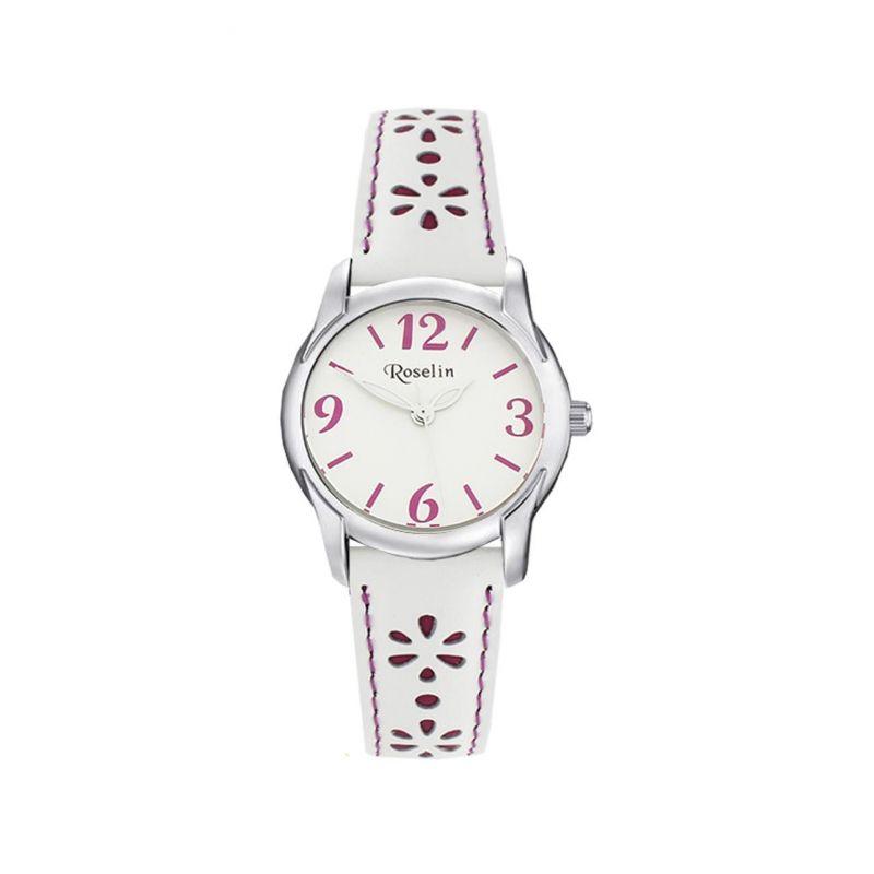 Reloj infantil piel flores Roselin Watches