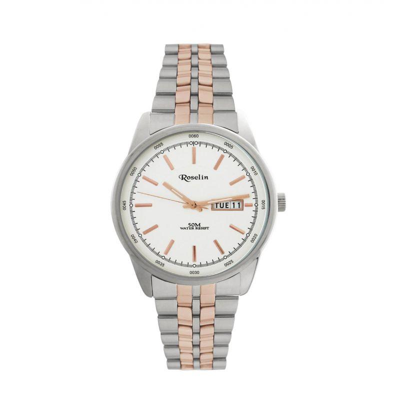 Reloj hombre armys acero bicolor Roselin Watches