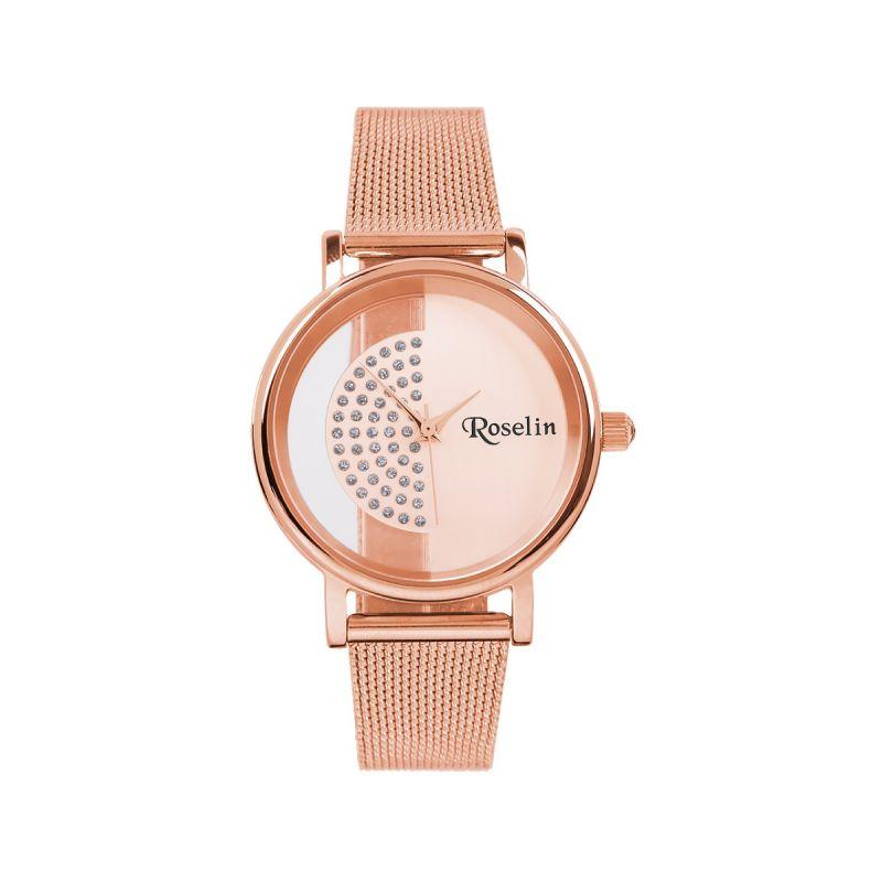 Reloj Malla Acero Rosa Roselin Watches