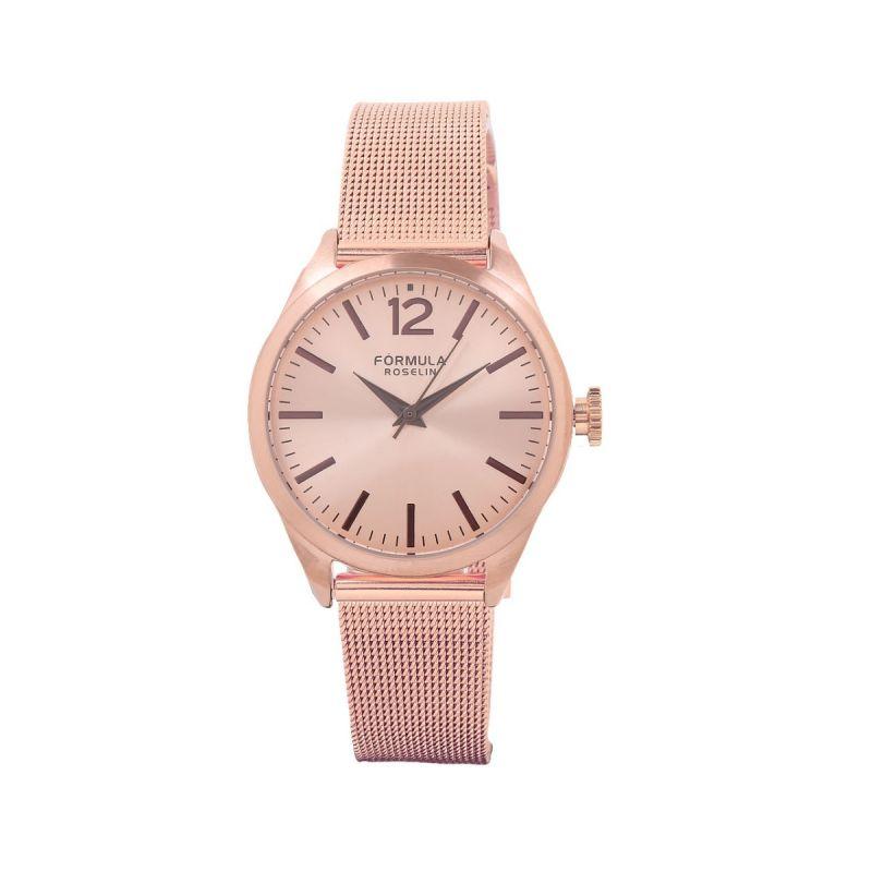 Reloj mujer malla cobre Fórmula Roselin
