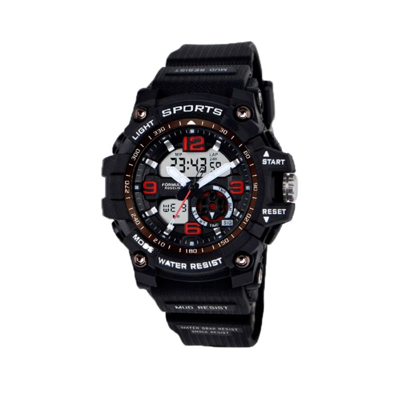 Reloj Analógico-Digital Caucho Negro Fórmula Roselin