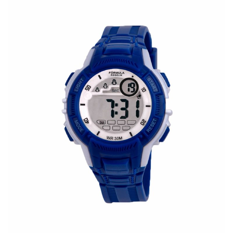 Reloj Digital Azul Formula Roselin