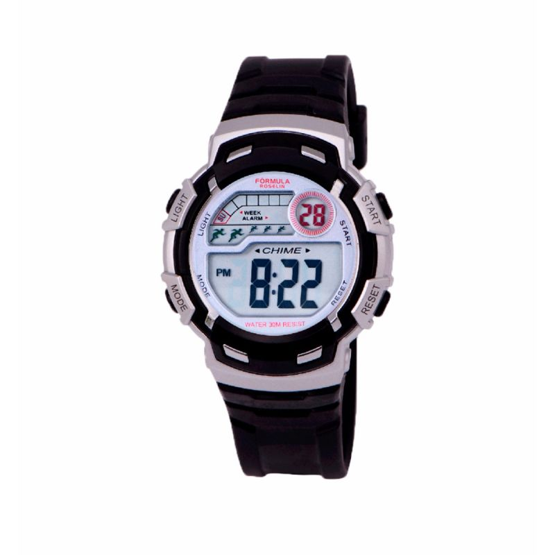 Reloj Digital Negro Unisex Formula Roselin