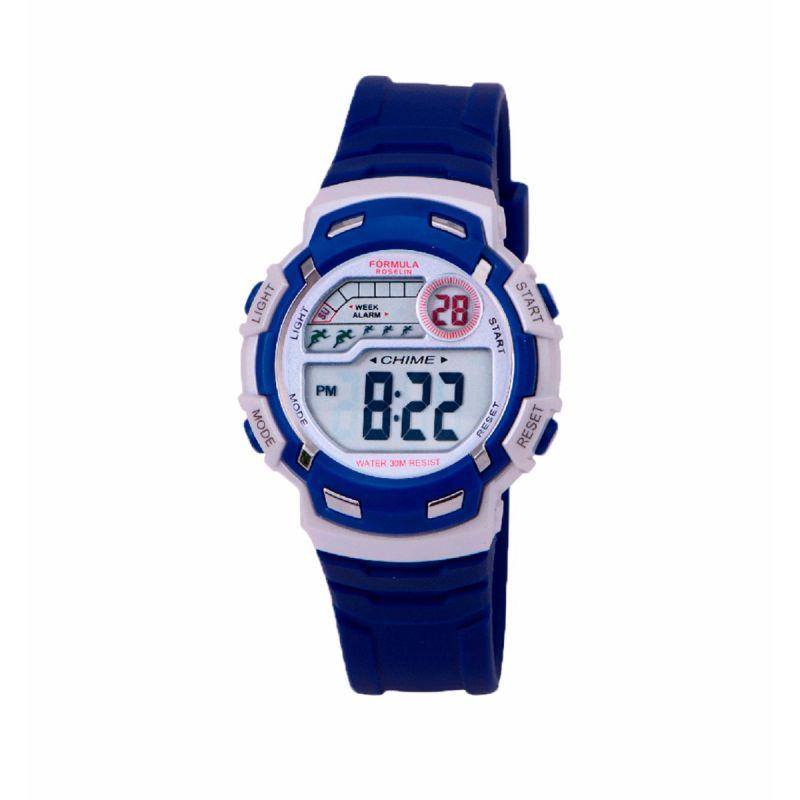 Reloj Digital Azul Oscuro Formula Roselin
