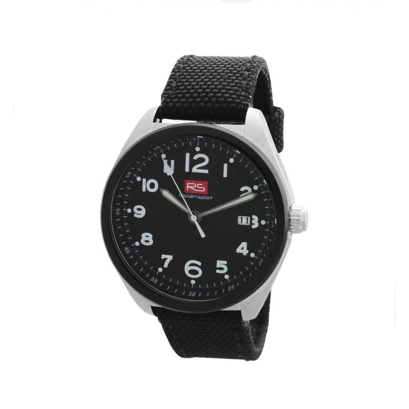 Reloj hombre acero y tela RS Roslain Sport