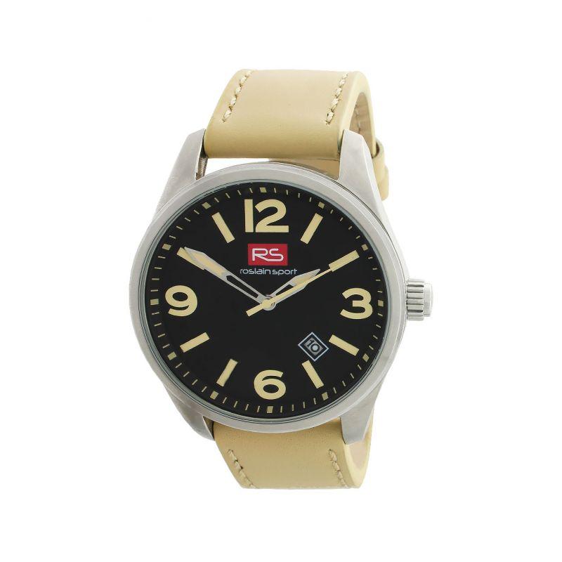 Reloj hombre acero y piel RS Roslain Sport