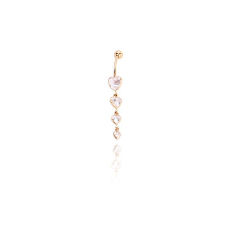 Piercing Oro 9k Corazones