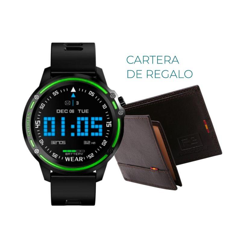 Reloj Smartwatch RS negro y verde