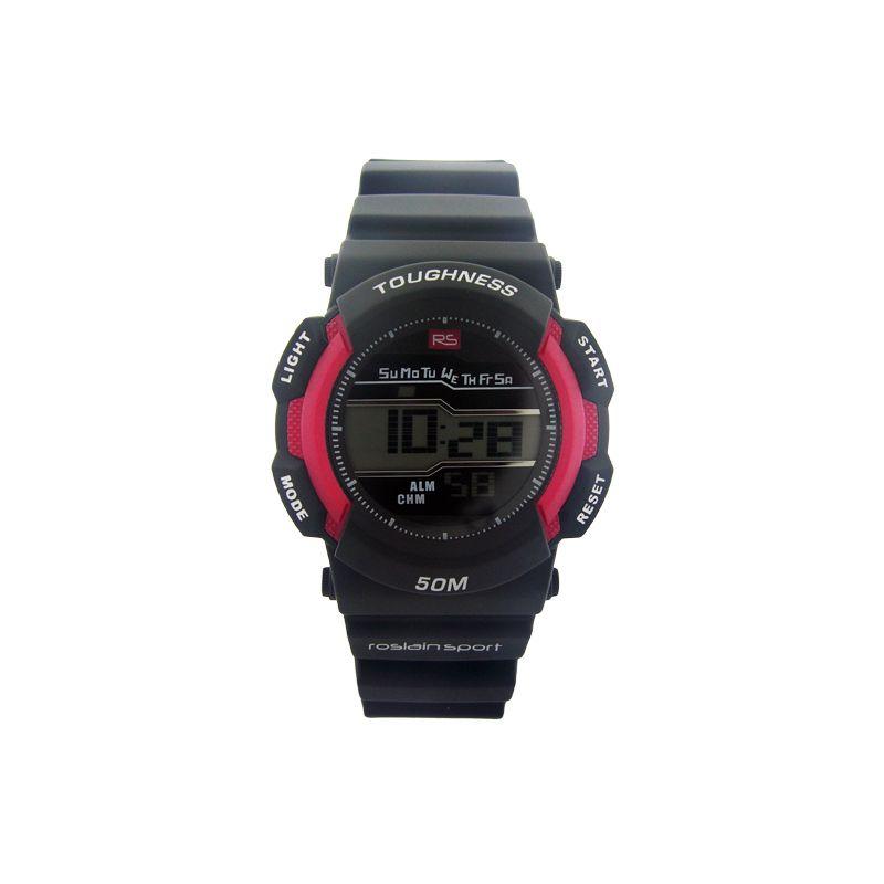 Reloj hombre digital caucho rojo RS Roslain Sport