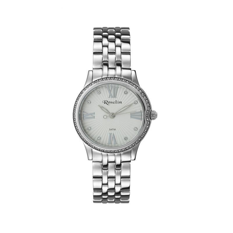 Reloj mujer blanco acero y circonitas Roselin Watches