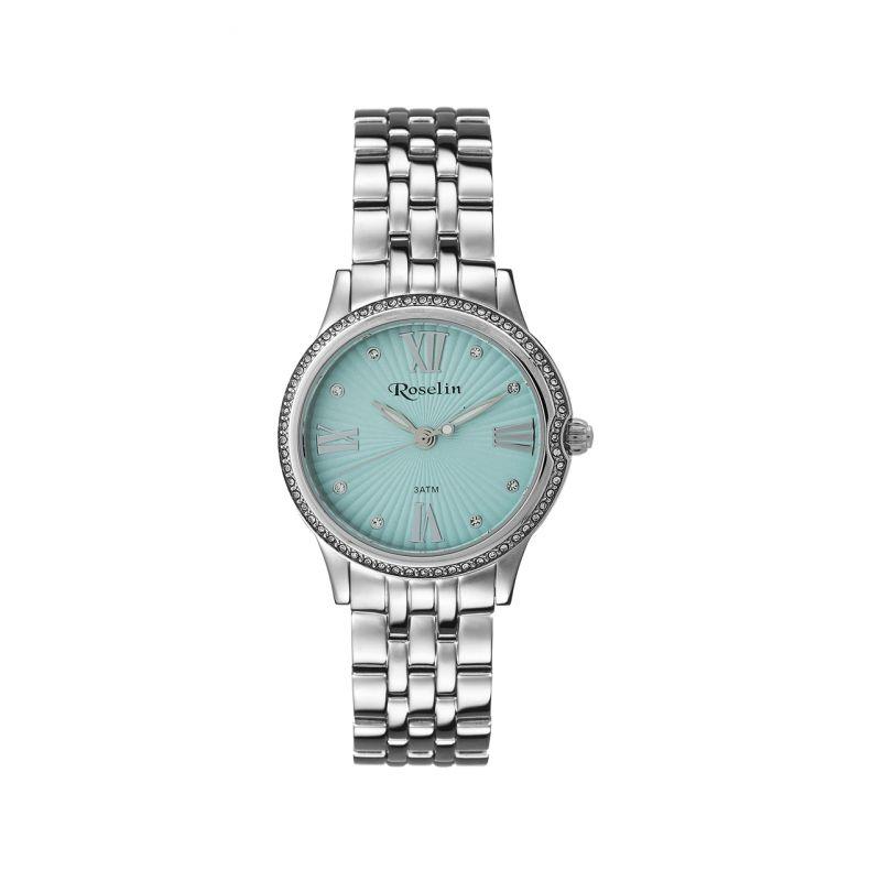 Reloj mujer azul acero y circonitas Roselin Watches