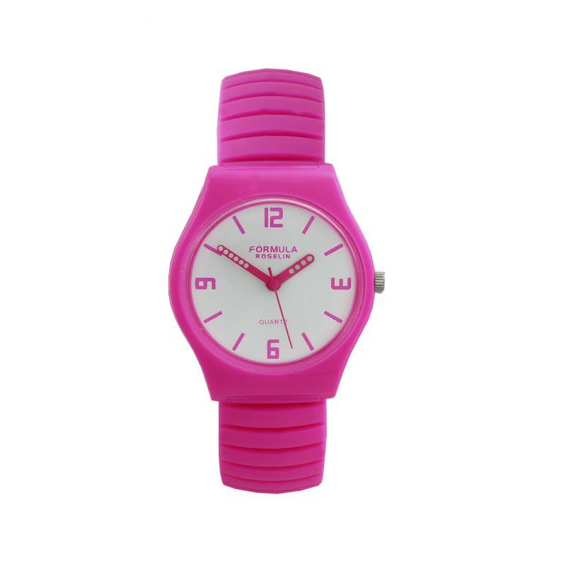 Reloj rosa silicona Fórmula Roselin