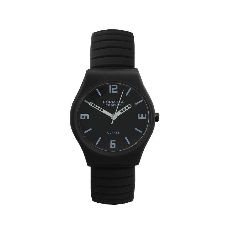 Reloj negro silicona Fórmula Roselin