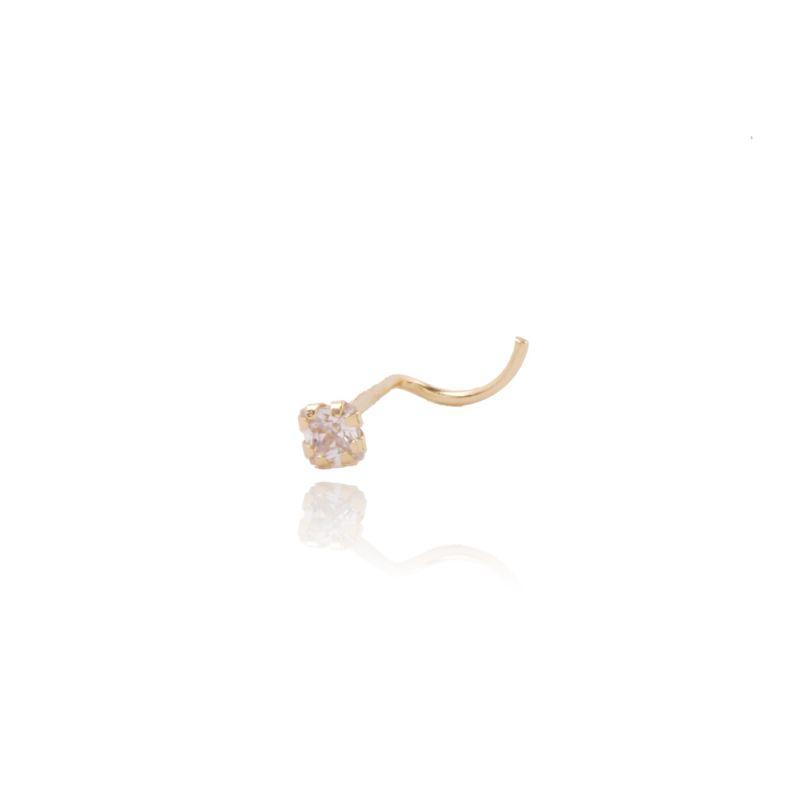 Piercing Oro 18k y circonita