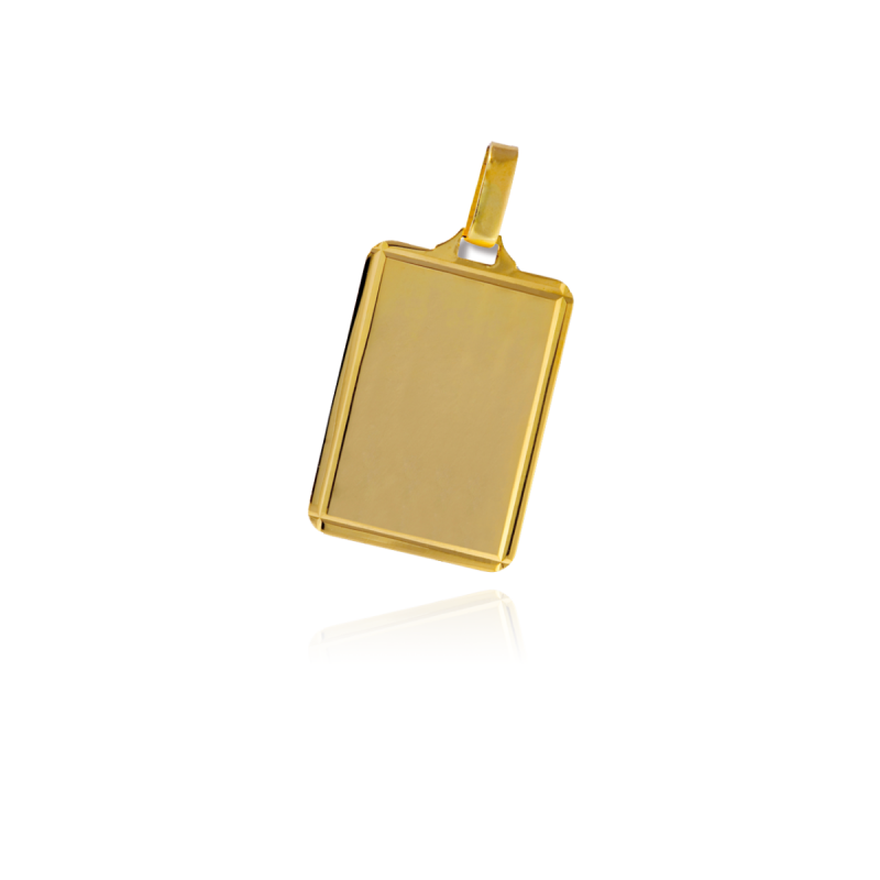 Chapa lisa rectangular oro 18k