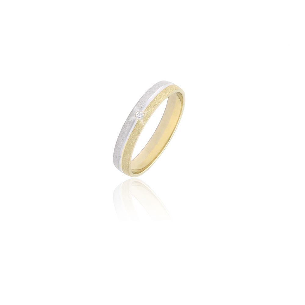Alianza Oro 18 kts y diamante 3 mm
