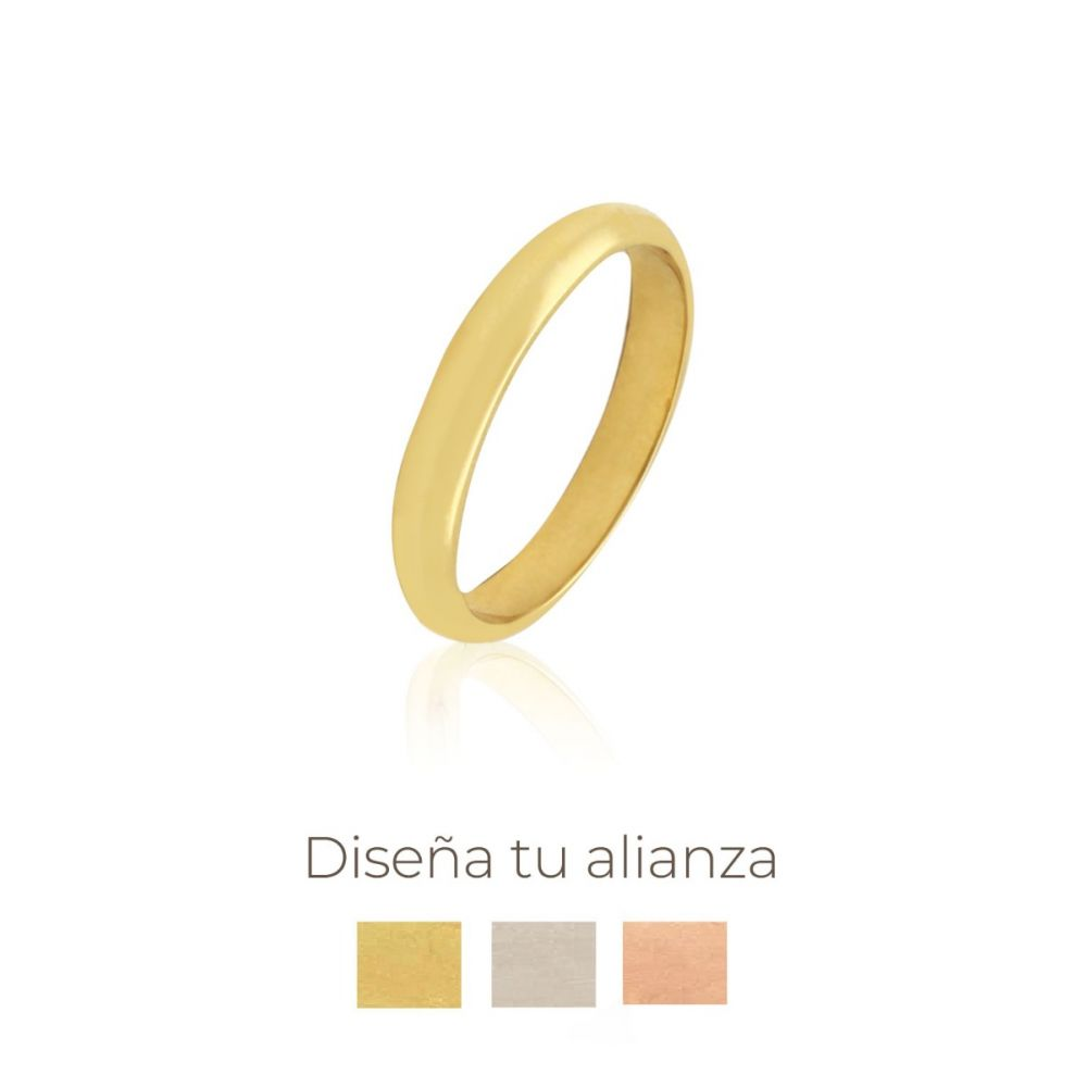 Alianza artesanal Oro 18kts 3,5mm