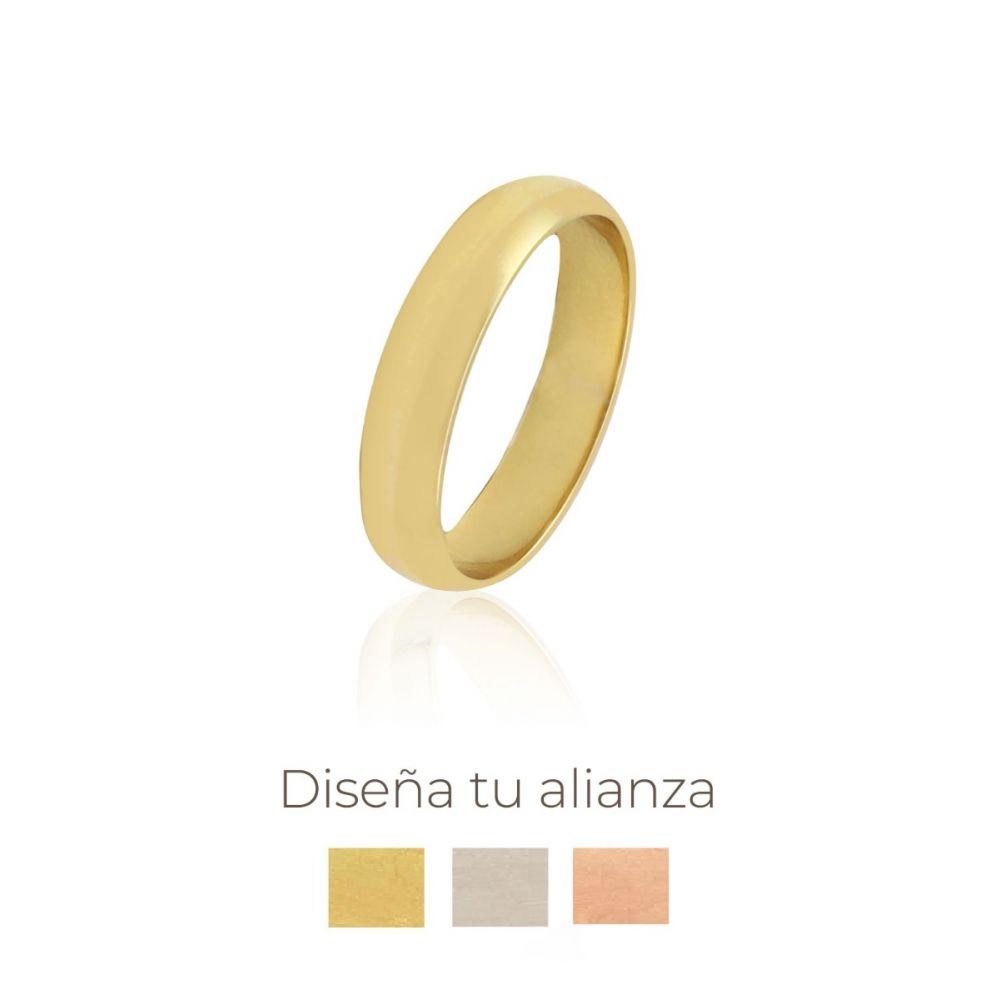 Alianza artesanal Oro 18kts 4mm