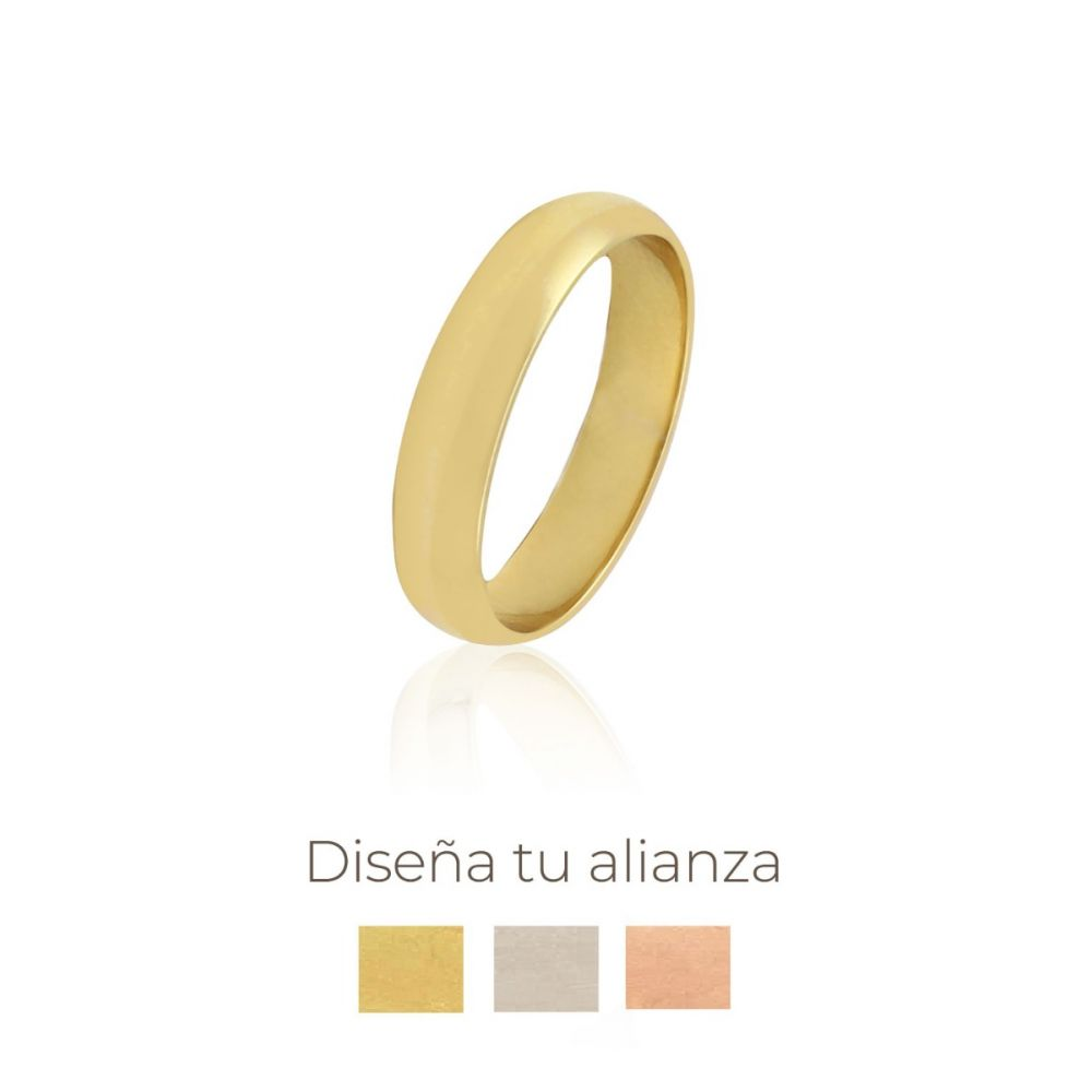 Alianza artesanal Oro 9kts 4mm