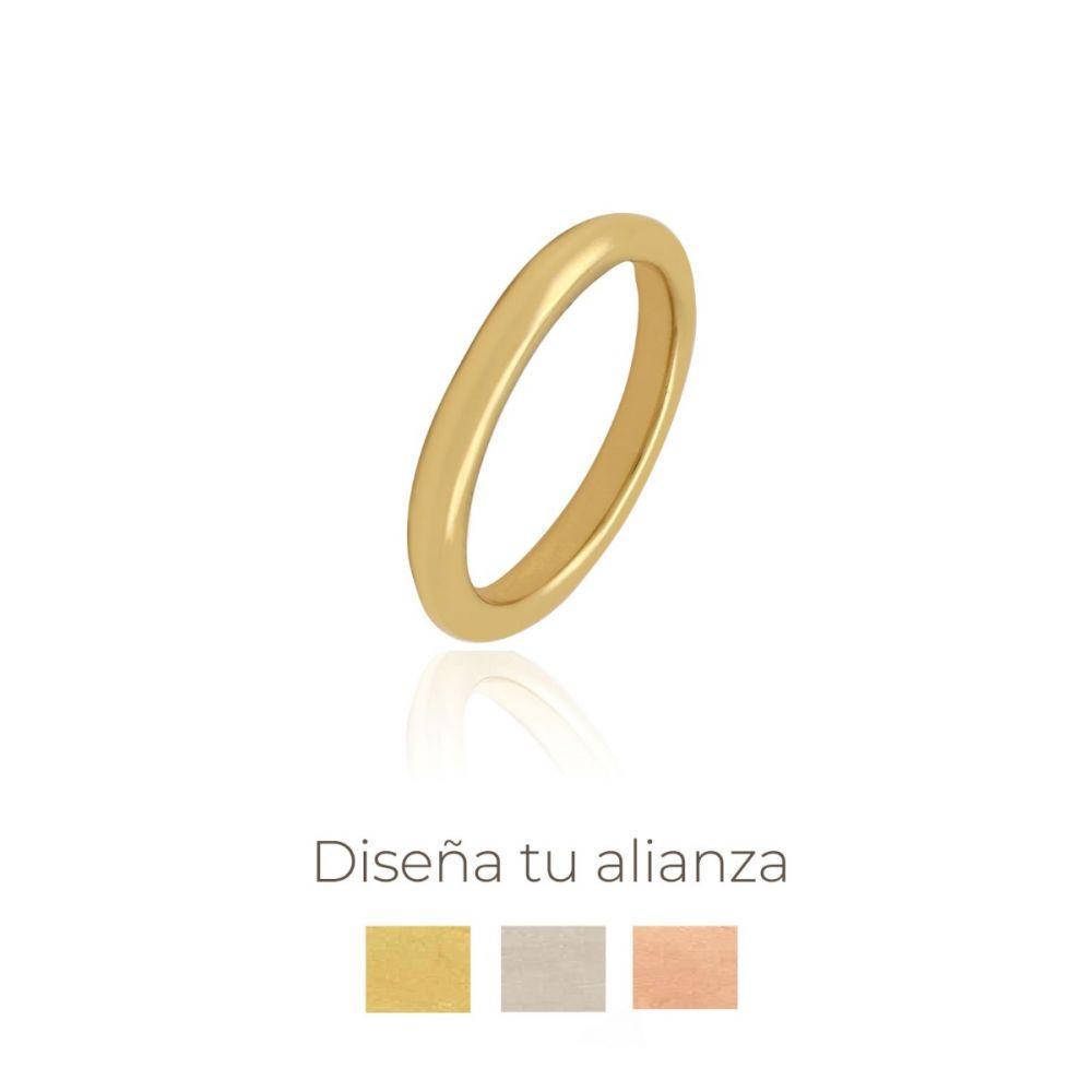 Alianza artesanal Oro 18 kts redonda 3 mm