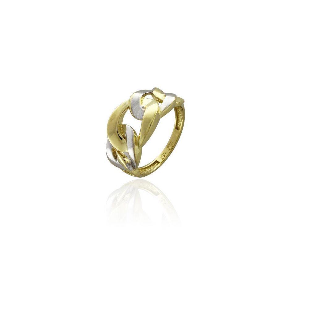 Anillo Oro 18k cadena Trendy