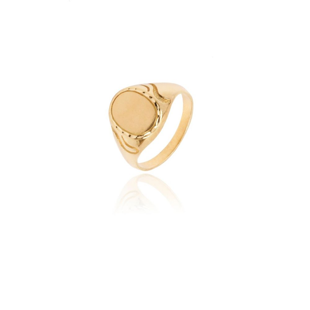Sello Oro 18k Caballero Oval