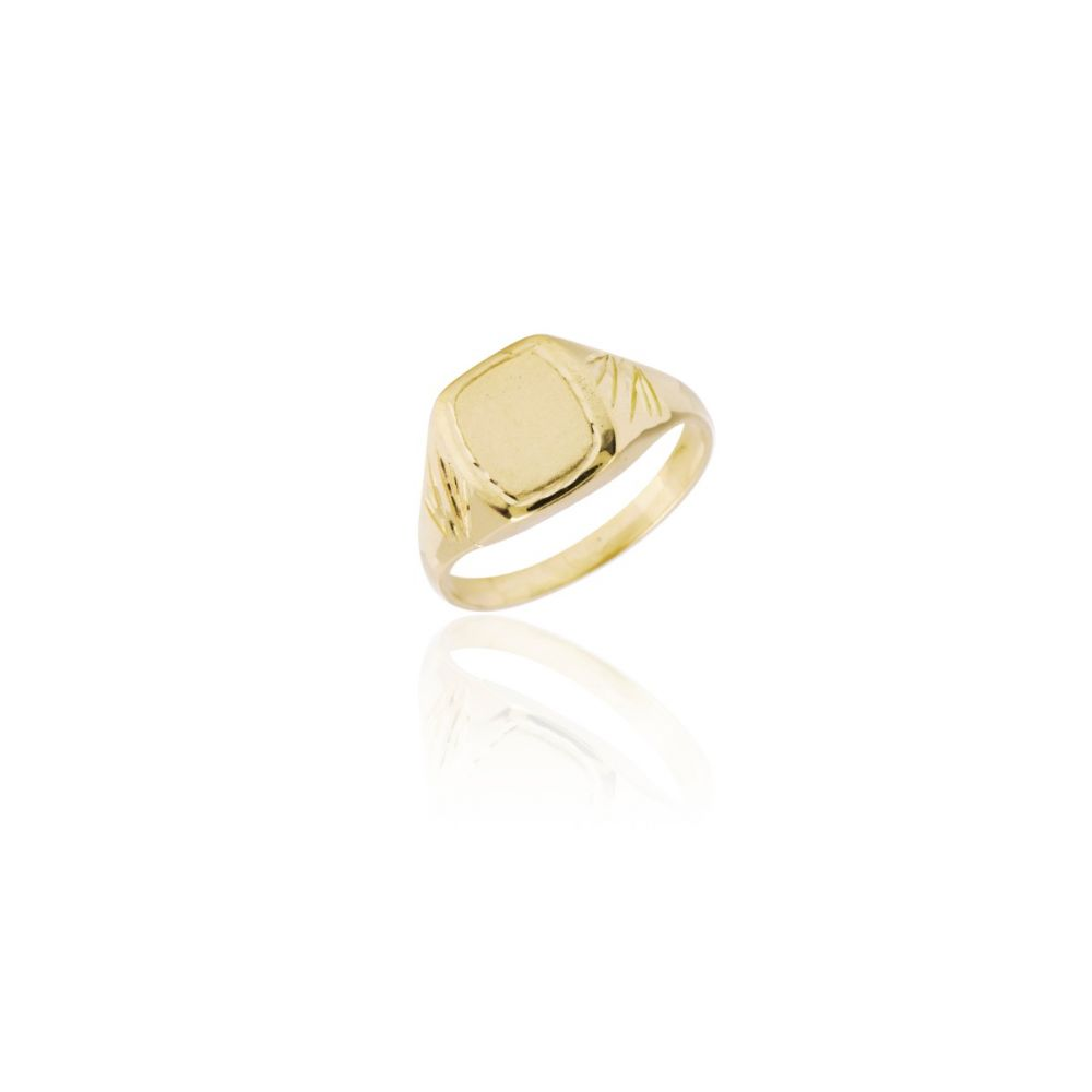 Sello cadete octogonal oro 18k