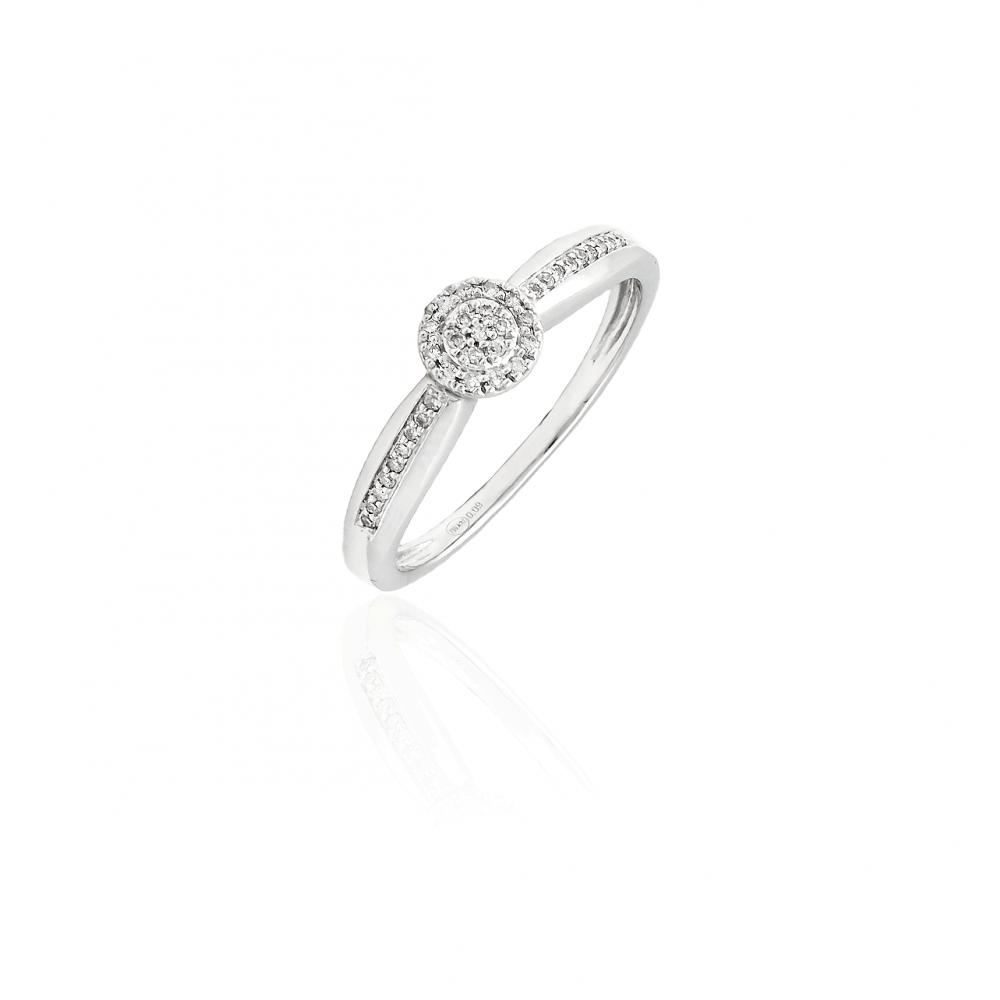 Anillo Oro 18k y diamantes roseta