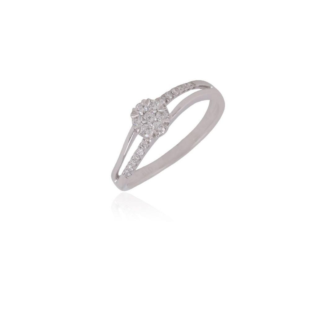 Anillo Diamante Oro 18k Onda