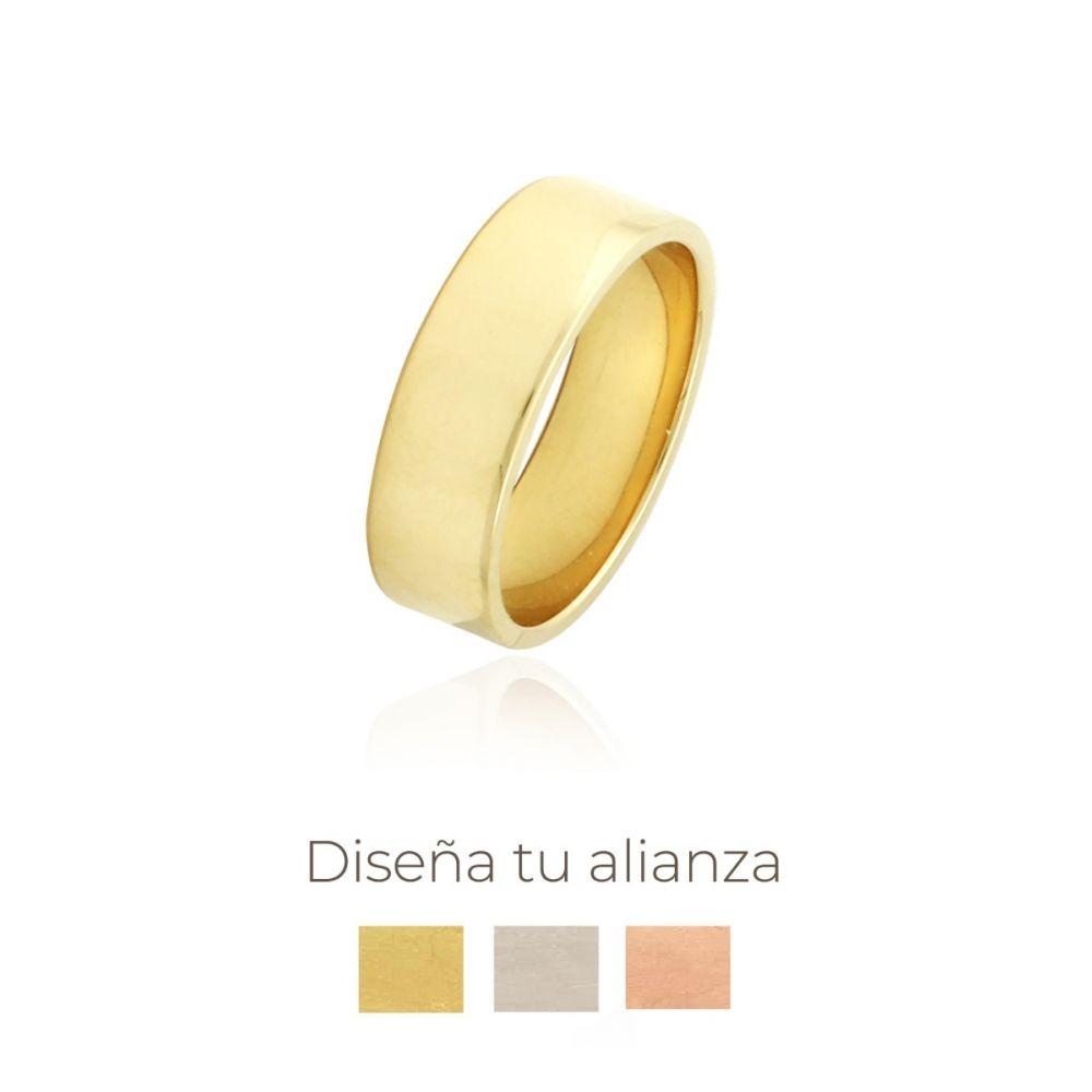 Alianza artesanal Oro 9kts plana 6.25mm