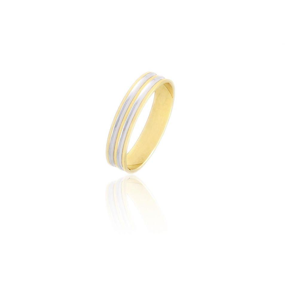 Alianza Oro 9k bicolor 4 mm